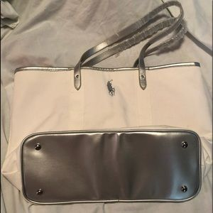 NWOT Ralph Lauren Polo white tote bag